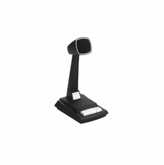 CAD AUDIO 878HL-2 Omnidirectional Dynamic Desk Top Microphone with Locking Push to Talk Switch