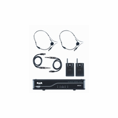 CAD AUDIO GXLUBBK UHF Wireless Dual Bodypack Microphone System K Frequency Band