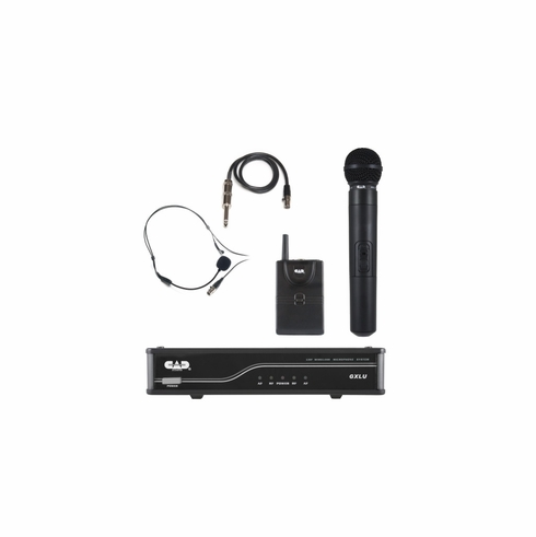 CAD AUDIO GXLUHBL UHF Wireless Combo System- Handheld and Bodypack Microphone System L Frequency Band