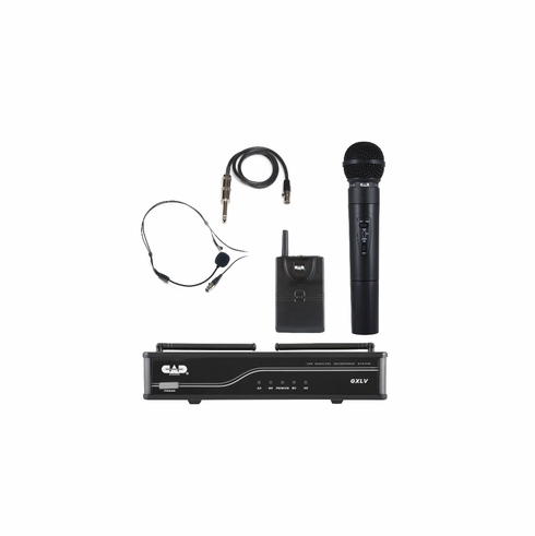 CAD AUDIO GXLVHBJ VHF Wireless Combo System- Handheld and Bodypack Microphone System J Frequency Band