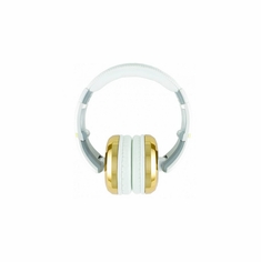 CAD AUDIO MH510GD Closed-back Studio Headphones -50mm Drivers- Gold/White - Two Cables, Two Sets Earpads
