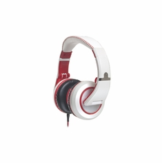 CAD AUDIO MH510W Closed-back Studio Headphones - 50mm Drivers-White/Red - Two Cables, Two Sets Earpads