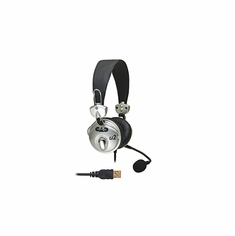 CAD AUDIO U2 USB Stereo Headphones with Cardioid Condenser Microphone, 6' USB Cable
