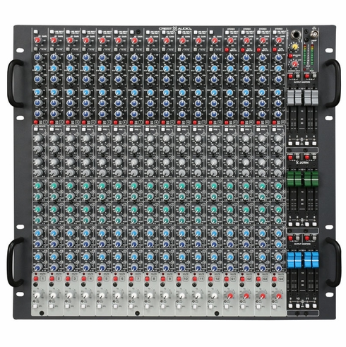 CREST AUDIO X 18RM - The Crest Audio(r) X-Series(tm) is regarded as the most sonically accurate and operationally quiet, professional-level rack-mountable console range in the audio industry.