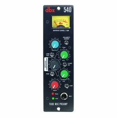 DBX 540 single-slot 500 Series tube microphone preamp that boasts pristine audio output, superior-quality high-end design at a value price
