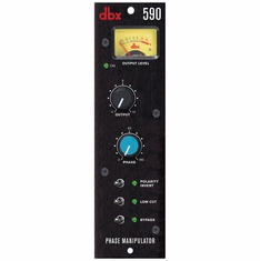 DBX 590 500 Series phase manipulation tool designed to correct problematic audio phase alignment when recording multiple signal sources.