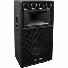 "MARATHON DJ-153  SINGLE 15""  THREE WAY LOUD SPEAKER"