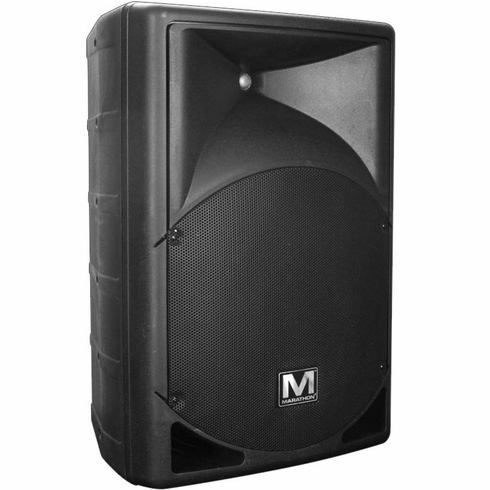 "MARATHON ENT-10PUSB Active 10"" Two-Way 640 Watts ABS Loudspeaker with Built-In USB/SD MP3 Player"