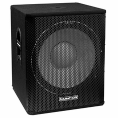 "MARATHON ENT-118 SINGLE 18"" SUBWOOFER SYSTEM, PA-18200 EQUIPPED, 2400 WATTS"