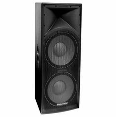 "MARATHON ENT-215V2   TEXTURE COATED DUAL 15"" 2-WAY SPEAKER"