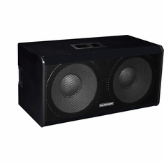 "MARATHON ENT-218V2   TEXTURE COATED DUAL 18"" SUBWOOFER SYSTEM, 2400 WATTS, PA-18200 EQUIPPED"
