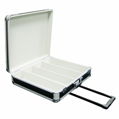 MARATHON EURO CD CASE MA-ECD4HW   Four Row CD Case with Wheels & Handle  HOLDS 200 JEWEL CASES OR 600 SLEEVES