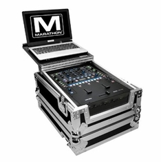 MARATHON ® FLIGHT ROAD CASE ™ CASE TO FIT ONE RANE SIXTY-TWO or SIXTY TWO Z SERATO MIXER CONTROLLER OR ANY EQUAL SIZE MIXER + LAPTOP SHELF