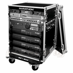 MARATHON FLIGHT ROAD CASE MA-14UADW   14U AMPLIFIER DELUXE CASE WITH WHEELS
