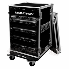 MARATHON FLIGHT ROAD CASE MA-18UADW   18U AMPLIFIER DELUXE CASE WITH WHEELS