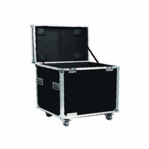 """MARATHON ® FLIGHT ROAD CASE ™ MA-TUT232327W UTILITY TRUNK CASE - EXTERIOR 23""""W X 23""""H X 27""""D  WITH CASTER KIT AND STACKABLE CASTER DISH"""