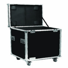 "MARATHON ® FLIGHT ROAD CASE ™ MA-TUT232327W UTILITY TRUNK CASE - EXTERIOR 23""W X 23""H X 27""D  WITH CASTER KIT AND STACKABLE CASTER DISH"