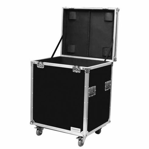 """MARATHON ® FLIGHT ROAD CASE ™ MA-TUT291613W UTILITY TRUNK CASE - EXTERIOR 29""""W X 16""""H X 13""""D  WITH CASTER KIT AND STACKABLE CASTER DISH"""