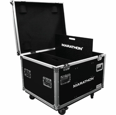 MARATHON FLIGHT ROAD CASE MA-TUT303724W Utility Trunk Case with Caster Kit and Stackable Caster Dish