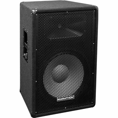 "MARATHON JR-115   COMPACT SINGLE 15"" TWO WAY PORTABLE LOUDSPEAKER"