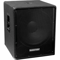 "MARATHON JR-118   COMPACT SINGLE 18"" PORTABLE SUBWOOFER SYSTEM"