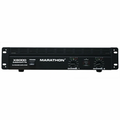 MARATHON � X6000 � Professional X Series 6000 Watts POWER AMPLIFIER