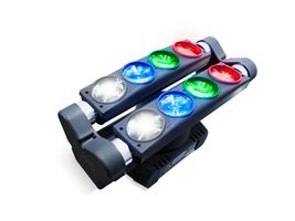 MARQ RAY TRACER X QUAD Dual-Tilt/Dual Roller Color Multi-Beam Light on Rotating Base