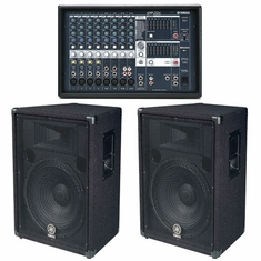YAMAHA EMX312SC/BR15 BUNDLE, Powered Mixer & Speakers