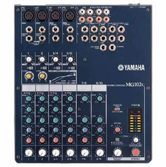 YAMAHA MG102C 10-Input Stereo Mixer with 2 Channels of Single Knob Compression