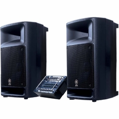 YAMAHA STAGEPAS 500 Two 2-Way Loudspeakers & 10-Channel 500 Watt Powered Mixer