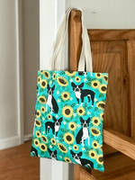Boston Terrier Sunflower Tote