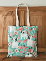Frenchie Flowers Tote