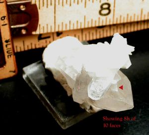 10 Faced Double Diamond Ultra Rare Rock Crystal - Thumbnail Arkansas Quartz Cluster