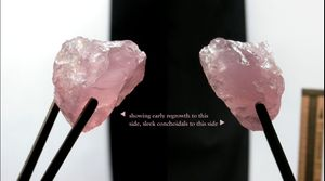 A+ Gem Grade California Lavender Rose Quartz Rough