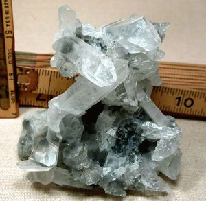 Arkansas Blue Phantom Rock Crystal Cluster, Manifest