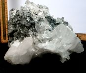 Arkansas Dark Blue Phantom Crystals, White Faden Tabular Cluster
