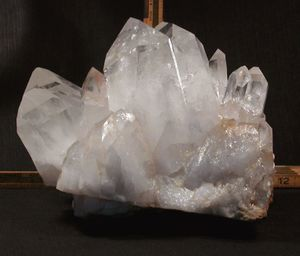 Big Twins and Twins - Big Large Cabinet Rainbow Arkansas Rock Crystal Cluster