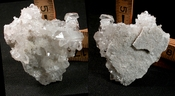 Brilliant Quartz Clusters on Heart Shaped Drusy Crystal Plate, Small Cabinet