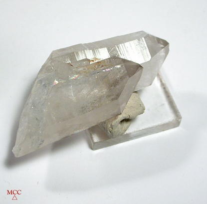 Day and Night Twin Crystals-White and Rare Arkansas Smoky Quartz