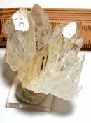Drusy Included Iron, Intense Natural Etching, Clear Golden Healer Quartz Cluster