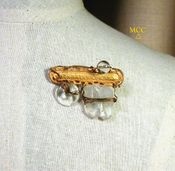 EUREKA Brooch - Natural and Cut Arkansas Rock Crystal, 18k Goldplate
