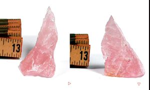Flamingo Pink Gem Grade Wearable Rose Quartz Rough