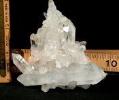 Frosty Arkansas Triangle Quartz Plate Cluster