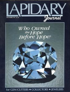 Lapidary Journal, December 1991 SOLD