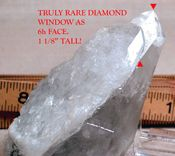 Large Tabular Blue Phantom Elestial: Huge Diamond Window