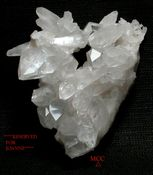 SOLD: Lovely Modern HEART SHAPED Natural Arkansas Quartz Crystal Cluster