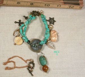 Montgomery Crystal Co's Bracelets with Our Rock Crystals and Other Semiprecious Stones and Beads