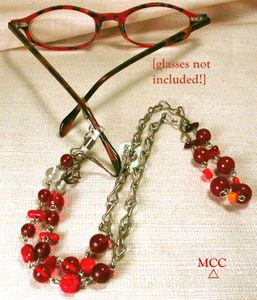 Montgomery Crystal Co's Jewelled, Convertible Eyeglass Chains - Peeper Keepers