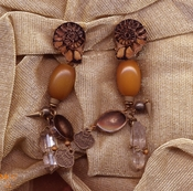 Montgomery Crystal Co's Rock Crystal Earrings, Some with Other Semiprecious Beads and Stones