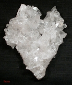 Naturally HEART SHAPED Gem Rock Crystal Floater Cluster, Cabinet
